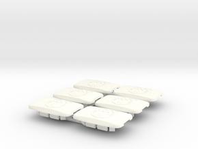 Pontiac Fiero Taillight Screw Cover Emblem 6-set in White Processed Versatile Plastic