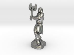 Human Blood Hunter with Battle axe in Natural Silver