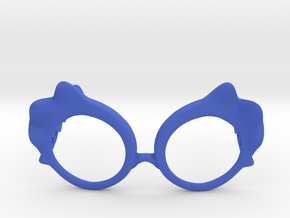 Wave Glasses in Blue Processed Versatile Plastic: Small