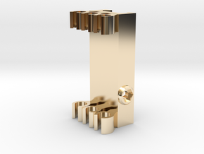 Picatinny Mount For Arrows in 14k Gold Plated Brass