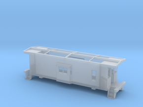 HO Scale Illinois Terminal Railroad Caboose ITRR 9 in Smooth Fine Detail Plastic: 1:87 - HO