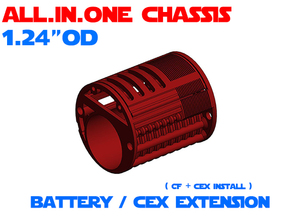"ALL.IN.ONE - 1.24""OD - Battery Extension in White Natural Versatile Plastic"