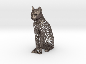 Egyptian Vorocat in Polished Bronzed-Silver Steel