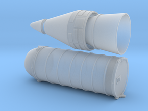 N scale 1/160 SRB Rear & Nosecone sections in Smooth Fine Detail Plastic