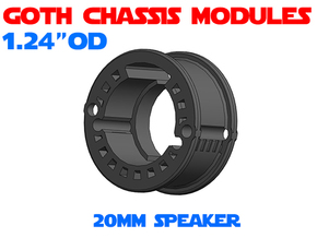 GCM124 - 20mm speaker chassis in White Natural Versatile Plastic