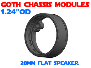 GCM124 - 28mm Flat Speaker Chassis in White Natural Versatile Plastic