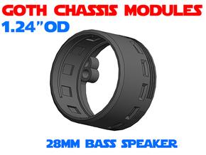 GCM124 - 28mm Bass Speaker Chassis in White Natural Versatile Plastic