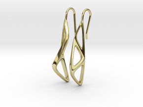 sWINGS Organic Structure, Earrings in 18k Gold Plated Brass