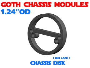 GCM124 - Chassis Disk in White Natural Versatile Plastic