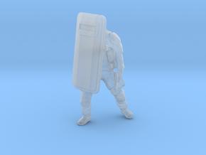 Swat-team shield - variation C in Smooth Fine Detail Plastic