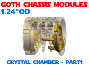 GCM124-CC-01-3 - Crystal Chamber Part3 - Brass2 in White Natural Versatile Plastic