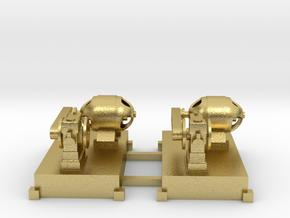Motor-Generator-Satz (V8) mit Transmission 2erSet  in Natural Brass