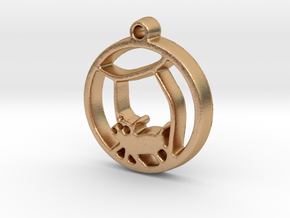 Hamster Ball Pendant in Natural Bronze