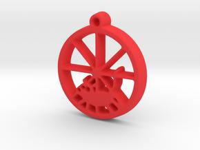 Gerbil Wheel Pendant in Red Processed Versatile Plastic