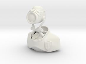 Robot Binary Detective 01 in White Natural Versatile Plastic