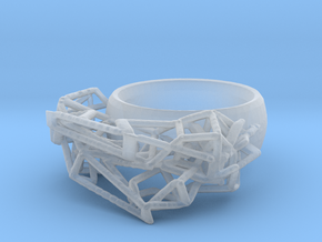 Cell Ring in Smooth Fine Detail Plastic