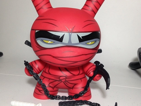 "All ninja weapons for the 8"" inch Dunny in White Strong & Flexible"