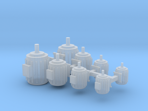 Elektromotoren Größe A-D 8erSet 1:120 in Smooth Fine Detail Plastic