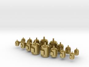 Elektromotoren Größe A-D 16er Set 1:120 in Natural Brass