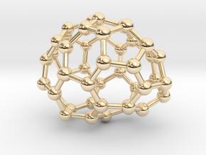 0648 Fullerene c44-20 c1 in 14k Gold Plated Brass
