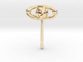 Atom Earring in 14K Yellow Gold