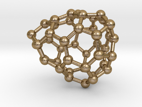 0651 Fullerene c44-23 c1 in Polished Gold Steel