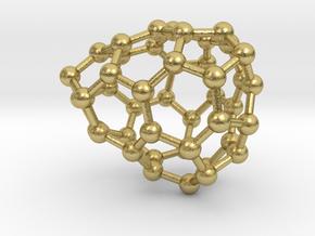 0651 Fullerene c44-23 c1 in Natural Brass