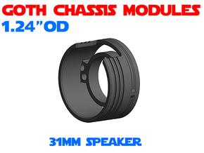 GCM124 - 31mm Speaker Chassis in White Natural Versatile Plastic