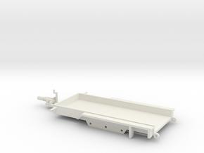 1034 Anhänger für kleine Baumaschinen HO in White Natural Versatile Plastic: 1:87 - HO