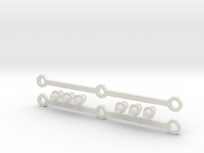 Piko 0-6-0 G-scale motor block siderods and crankp in White Natural Versatile Plastic