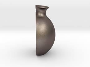 "Vase ""Treasure"" in Polished Bronzed-Silver Steel"