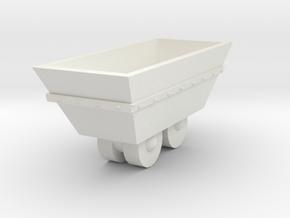 O Scale mine cart in White Natural Versatile Plastic