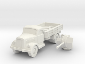 opel blitz with flak 38 scale 1/100 in White Natural Versatile Plastic