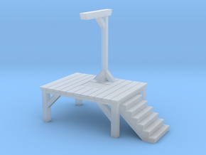 Gallows - Single Posted (1/87 Scale) in Smooth Fine Detail Plastic
