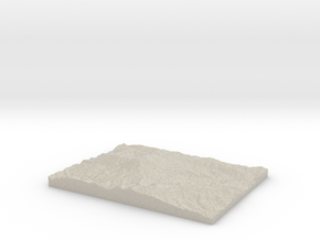 Model of Marys Peak Observation Point in Natural Sandstone