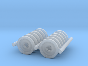 1/100 scale M113 spare wheels (x12). in Smooth Fine Detail Plastic