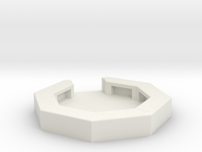 flak emplacement scale 1/100 in White Natural Versatile Plastic