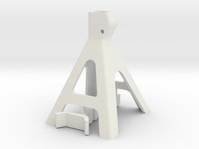 10th Scale Jack Stand in White Natural Versatile Plastic