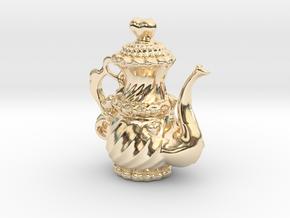 Elegant Cyber TeaPot in 14k Gold Plated Brass