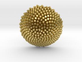Fibonacci Sunflower Pendant 2 in Natural Brass