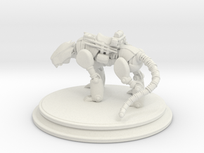Mech Tiger in White Natural Versatile Plastic: 1:8
