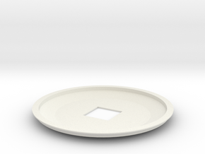 1-537 Enterprise Saucer Top in White Natural Versatile Plastic