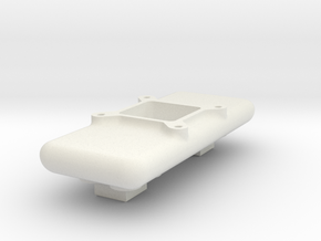 Tunnel Ram Top Deck (Single Carburetor). in White Natural Versatile Plastic