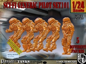 1/24 Sci-Fi Generic Pilot Set101 in White Natural Versatile Plastic