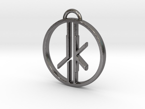 Jedi Knight Logo Pendant in Polished Nickel Steel
