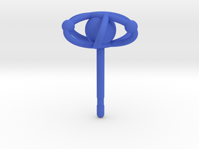 Atom Earring in Blue Processed Versatile Plastic