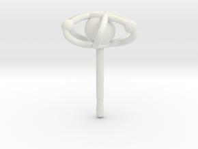 Atom Earring in White Premium Versatile Plastic