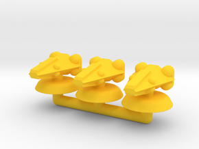 Delta Generic Small Warship Squadron in Yellow Processed Versatile Plastic