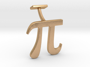 Pi Cuff link in Natural Bronze