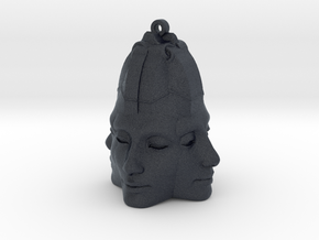 Nefertiti Face Earring (x4) in Black Professional Plastic